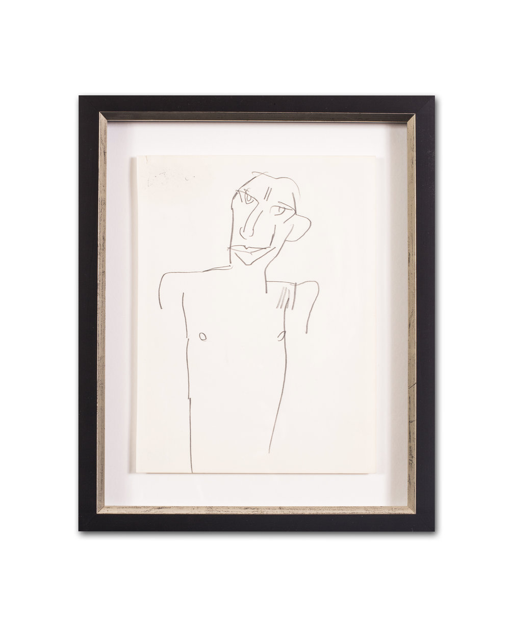 KEITH VAUGHAN    Male figure; Figure in profile; A sexual encounter; and Noughts and Crosses (set of 4)   All 9.7/8 x 7.1/2 in. (25.1 x 19 cm.) 13.5/8 x 11.1/8in. (34.5 x 28.2cm.) (including frame)  Pencil on paper (3) and pen on paper   Price: £4,200