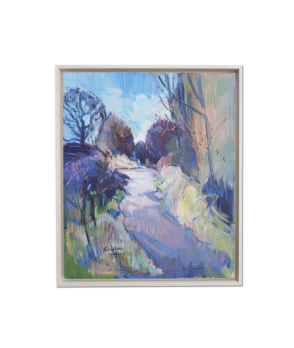 Richard Walker      A walk in the woods     Oil on canvasboard    24 x 20 in. (61 x 50.8 cm.)     Price: £820