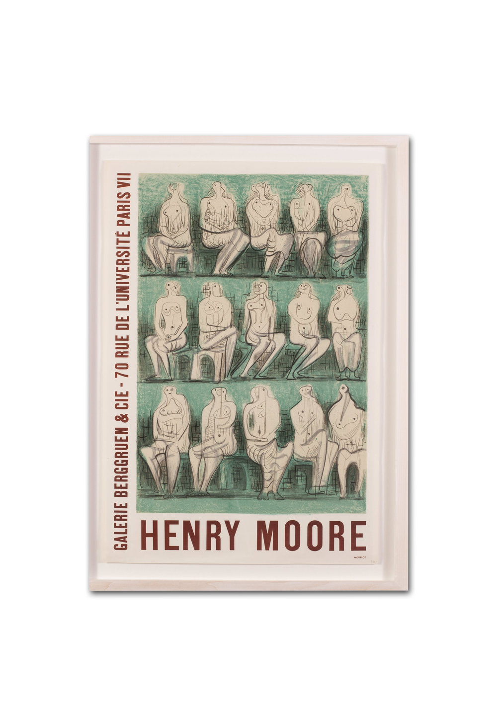 Henry Moore OM CH FBA    Lithographic poster created for the 1957 exhibition at Galerie Berggruen & Cie, Paris,   63.3 x 43.5cm.   Price: £550