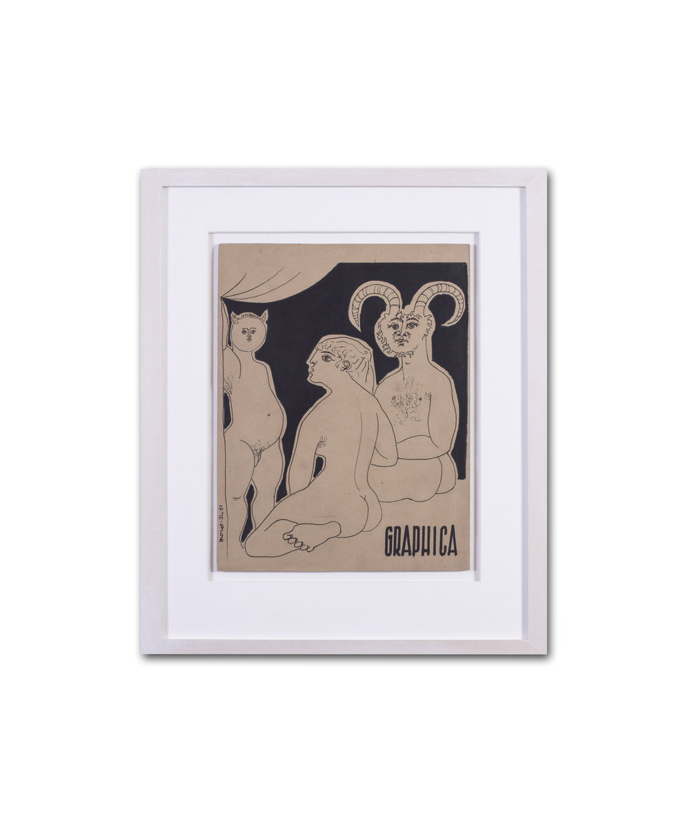 Gerard Morot-Sir      Graphica     Ink on paper    12.1/2 x 9.5/8in. (31.7 x 24.5cm.)     Price: £1,200