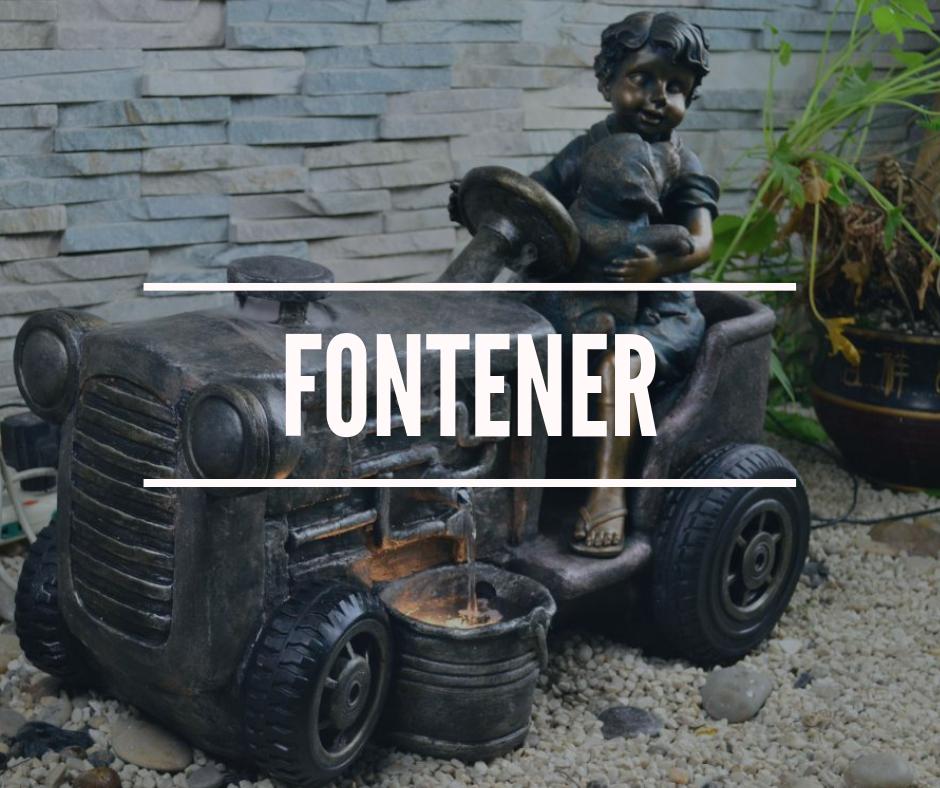 Fontener - Dekorér hagen og hjemmet med levende vannkunst. Skap rolig og avslappende atmosfære med vannfontene.