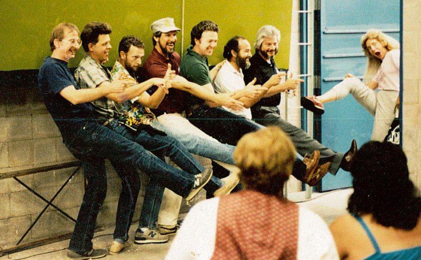Pictured: The founding Letterheads, Denver, June 1985, courtesy of Mark Oatis. From left: Bob Mitchell, Mark Oatis, John Frazier, Mike Rielley, Noel Weber, Earl Vehill, Rick Flores.