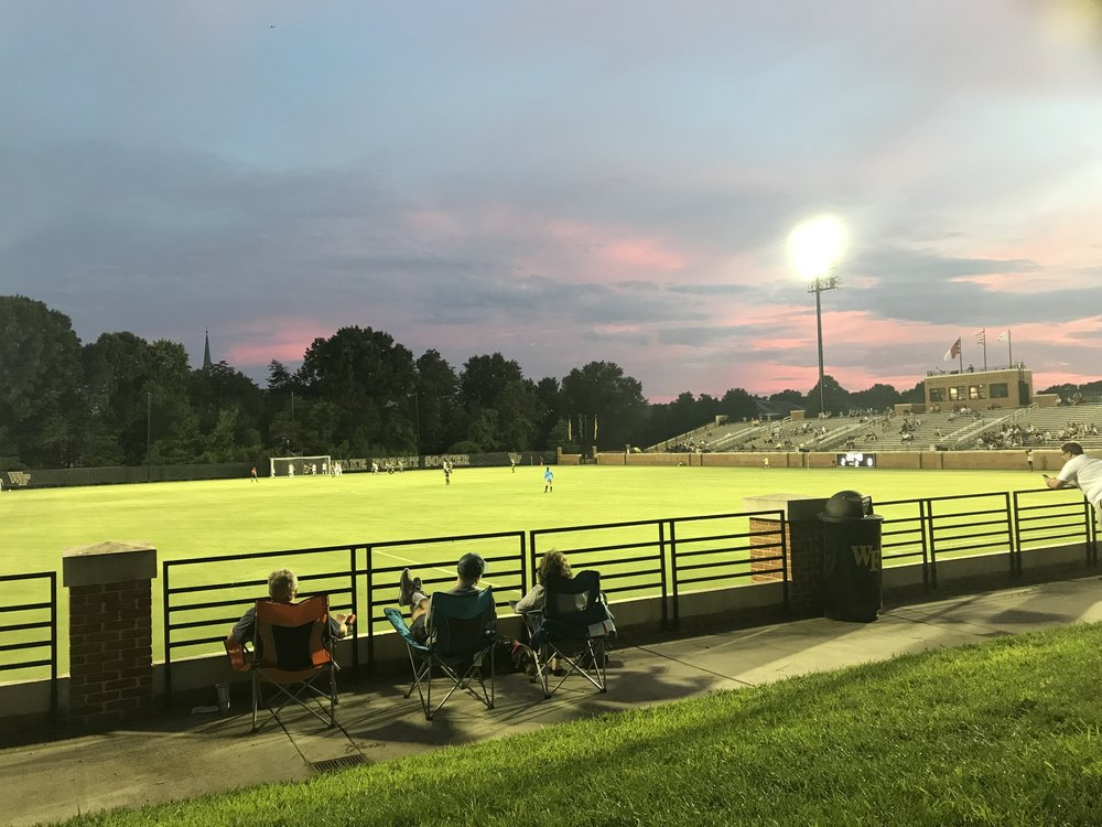 """Spry stadium - In 2017 the Spry Soccer Complex was renovated and is now considered to be one of the top training facilities in the entire country. The match stadium seats over 3,000, with additonal seating for fans """"on the hill"""" which has become the hottest ticket in town during Soccer Season"""