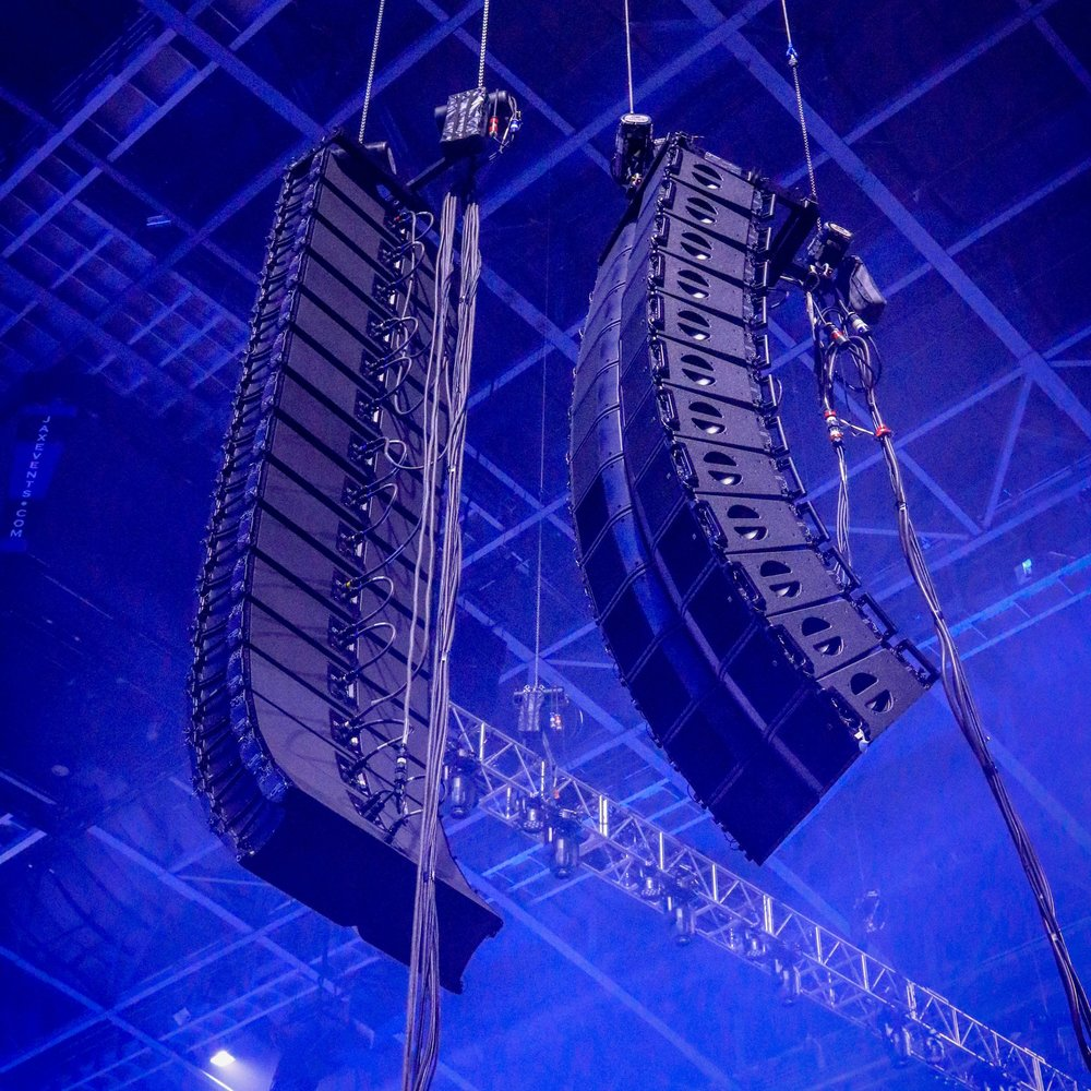 Audio Equipment - Line Array Sound Systems Digital Audio ConsolesPowered Speakers Monitor WedgesWireless MicrophonesIn-Ear Monitors