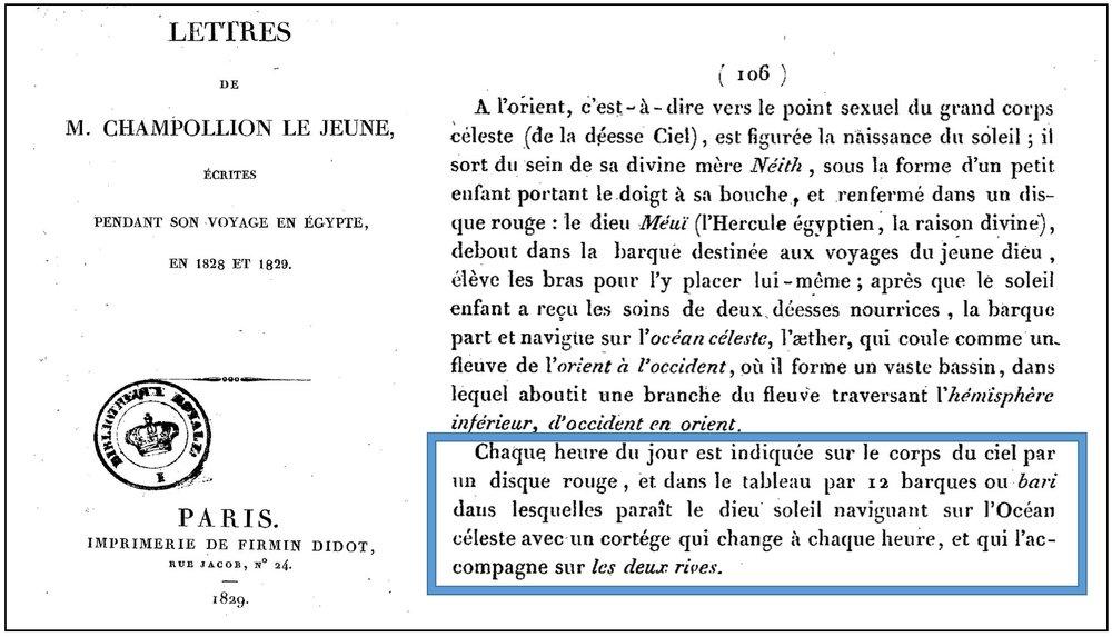 Lettres envoyées d'Egypte en 1828 et 1829 par Jean-François Champollion