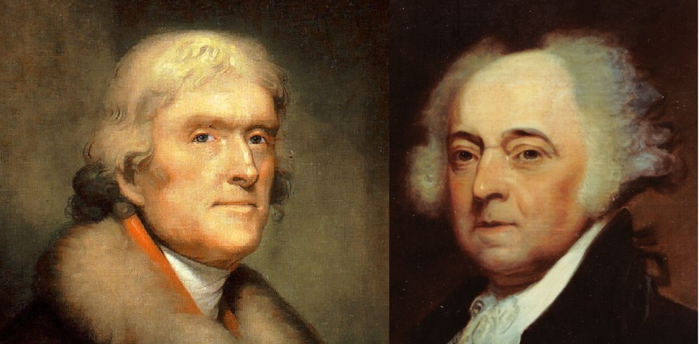 Thomas Jefferson et John Adams