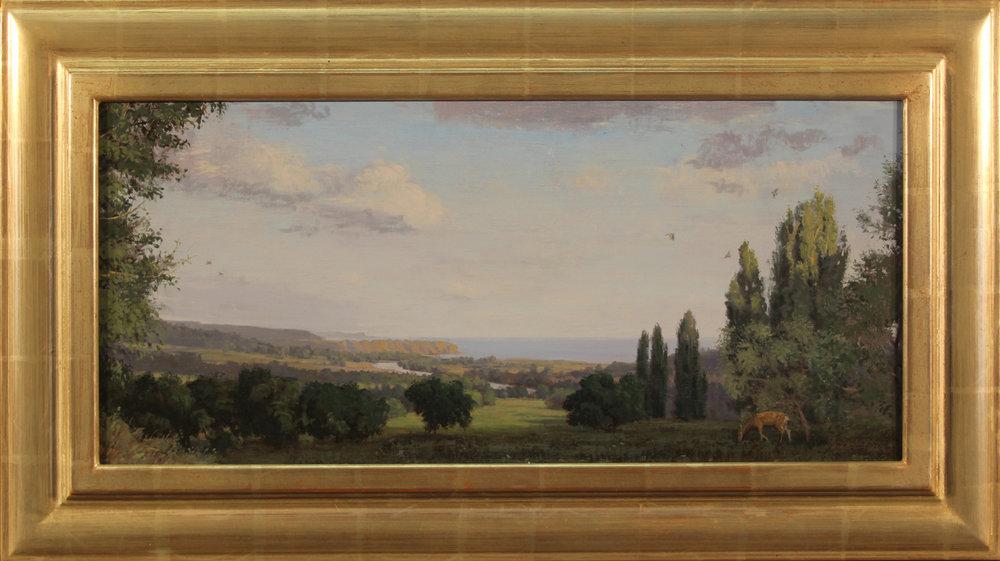 email Normandy Coast, France 11.5 x 25 oil on canvas, 17 x 30.75 frame, 2015, #1055 (1).jpg