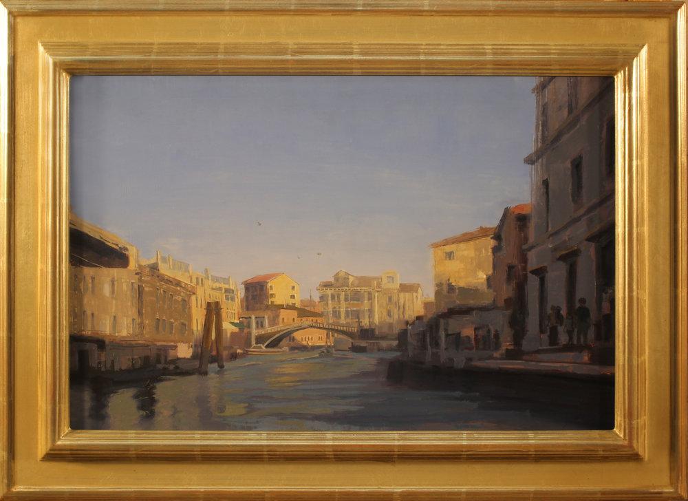 Evening, Grand Canal, Venice, #1187, 17 x 26 panel, 23.5 x 32.5 frame, $3,900.jpg