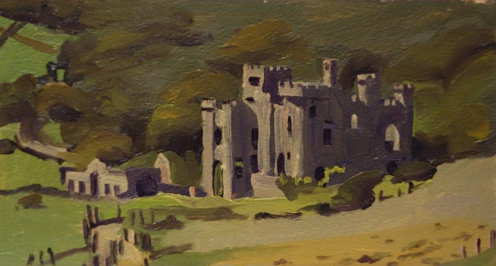 Clifden Castle, Connemara_Oil on Paper_9 x 4.75.JPG