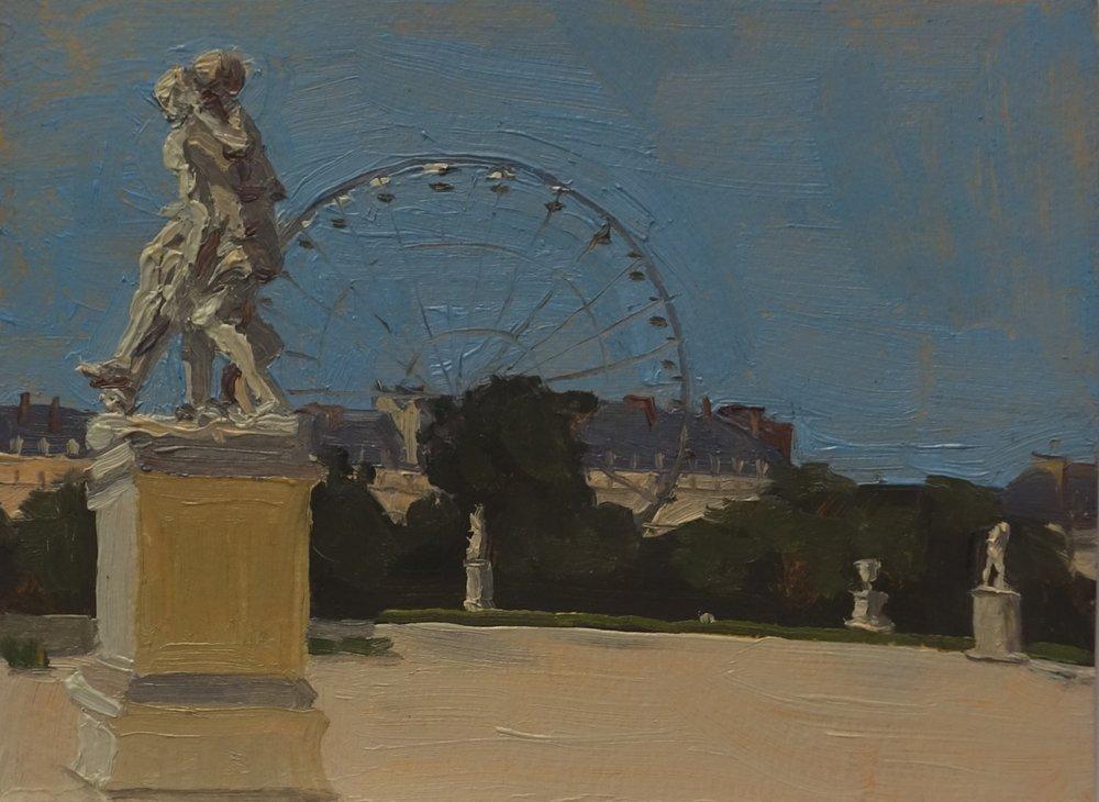 Ferris Wheel in the Tuilleries, Paris_Oil on Paper_4.5 x 6.JPG