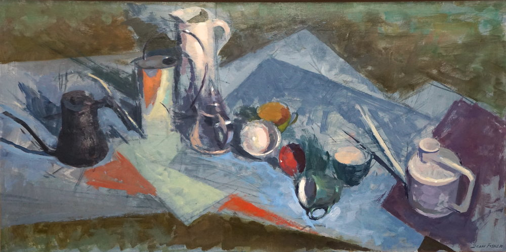 Still Life on Colored Paper II