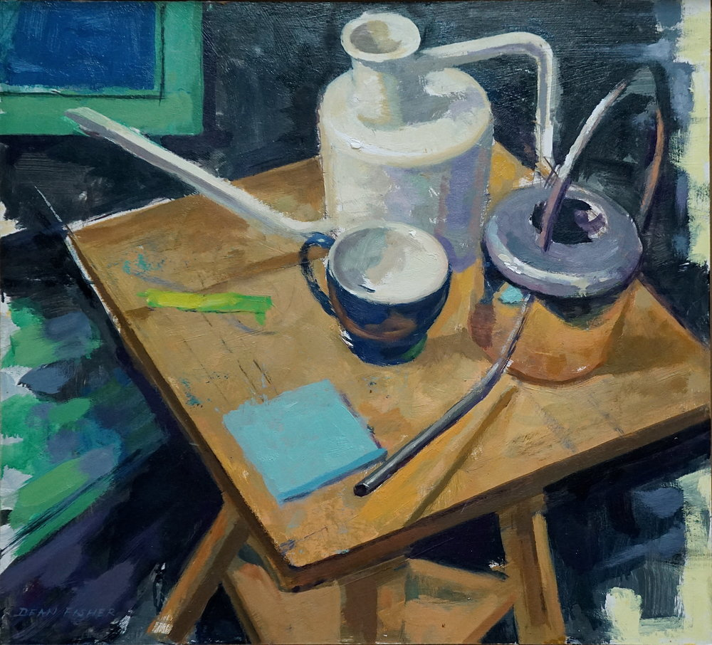 Still Life with Watering Cans