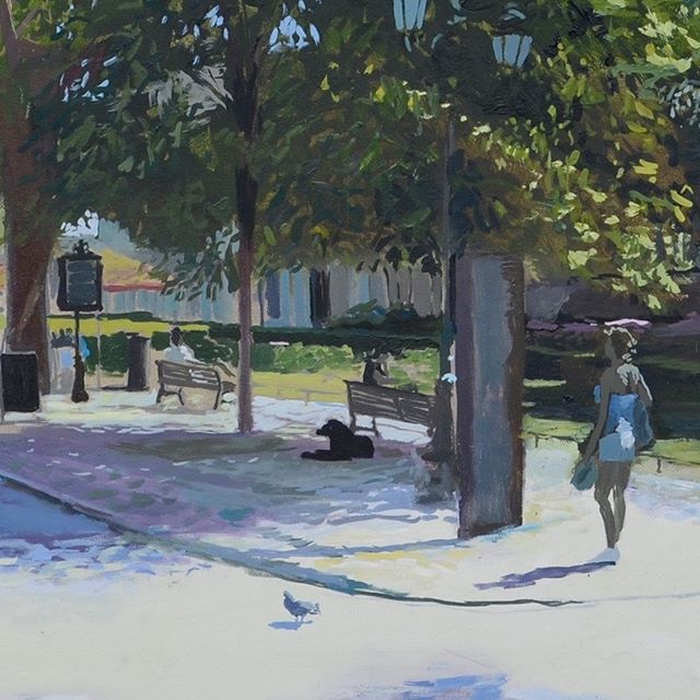 Place Canourgues (detail of painting); trying to capture the light and warmth through quick-but-precise marks of colour  #painting #urbanlandscape #artbuyers #artbuyer #artcurator #artcurators #artwork #instalike #art #instagood #peoplelookingatart #artwatchers  #artlovers #oilpainting #instaart #contemporaryrealism #impressionism #oiloncanvas #artist #pleinair #pleinairpainting #britishart #montpellier #visitmontpellier #herault #hérault #southoffrance #france #plaisirsdherault