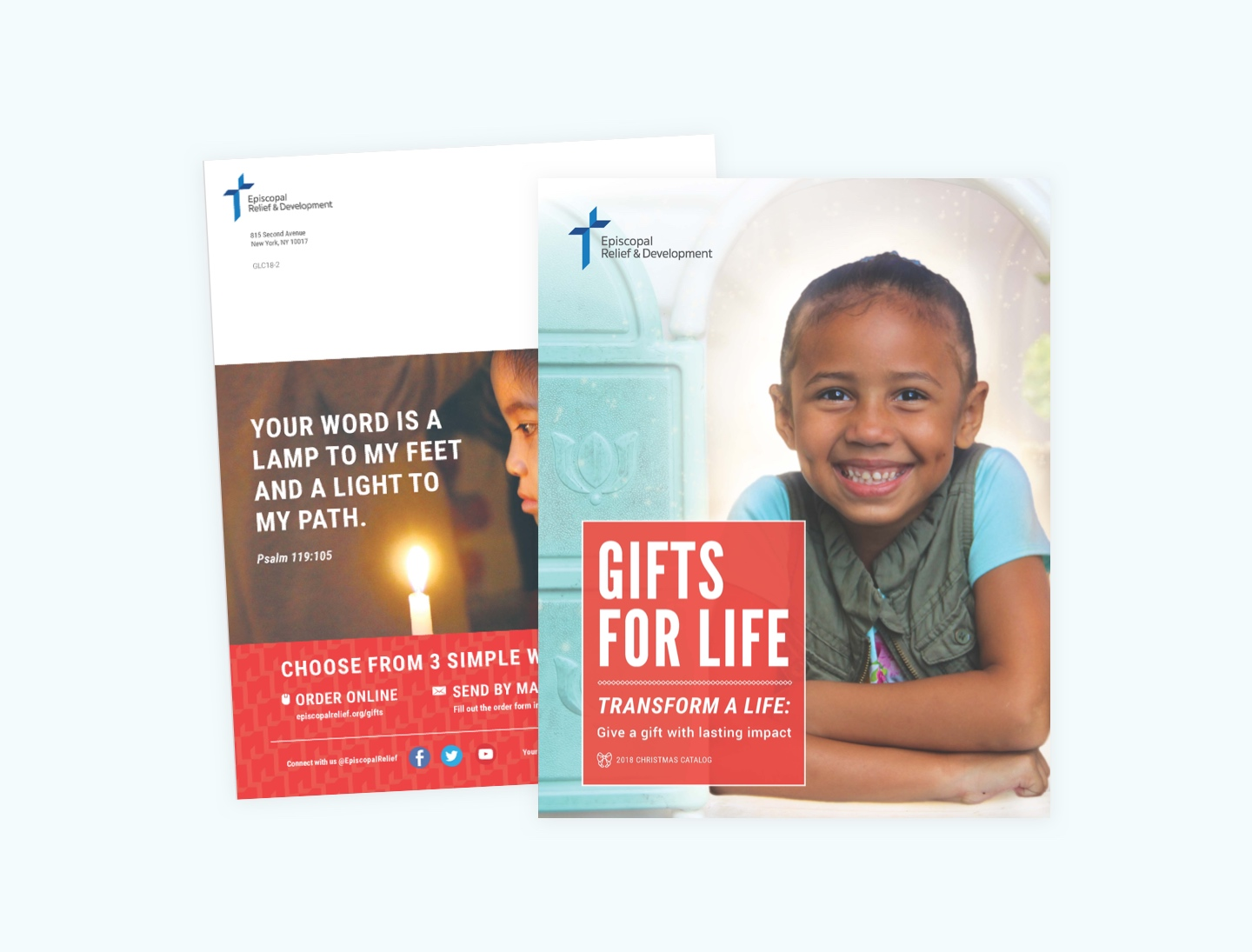 ERD sends out a package containing the Gifts for Life catalog, advent calendar, brochures for congregations and more. This year, I really work the clean ...