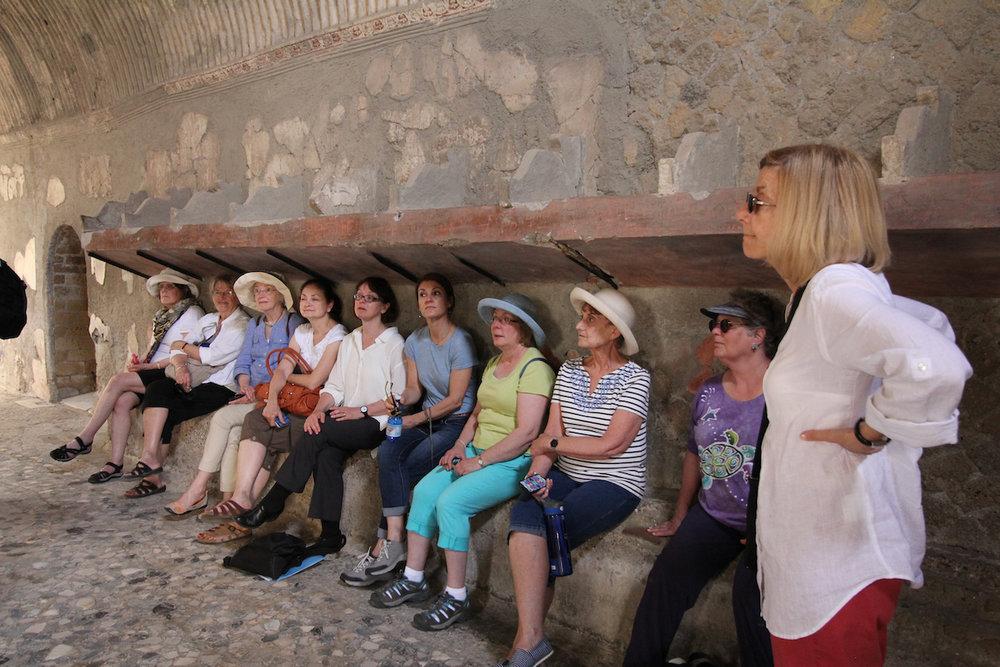 Tour Group in Pompeii