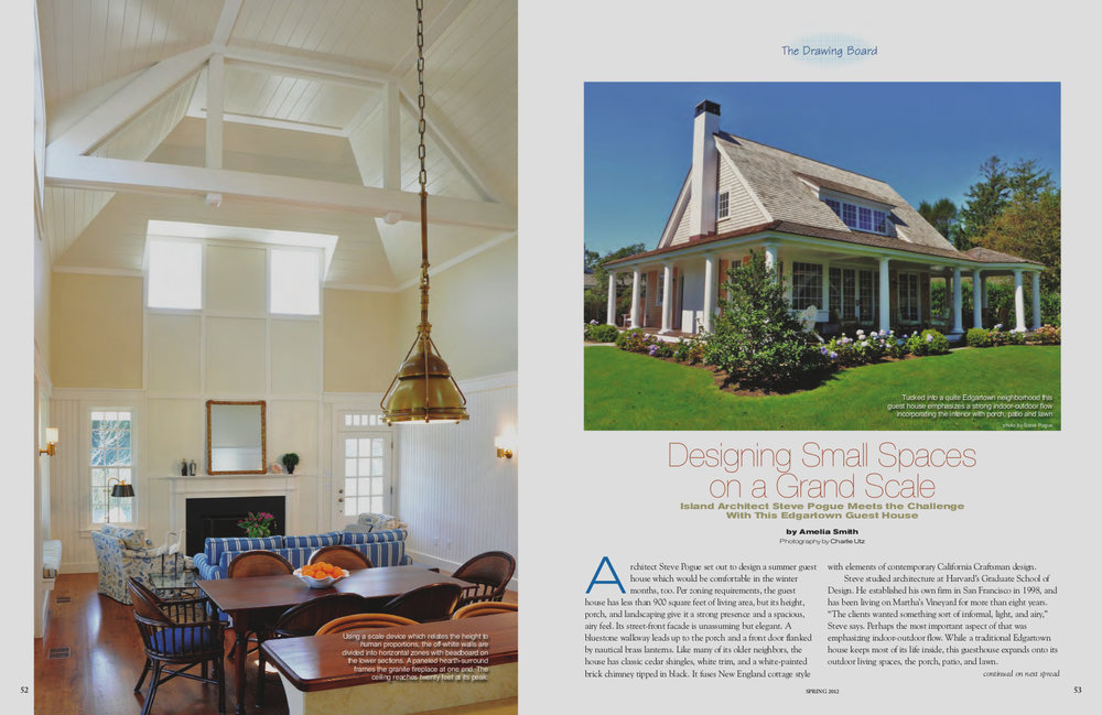 "Vineyard Style Magazine. - ""Designing Small Spaces on a Grand Scale"""