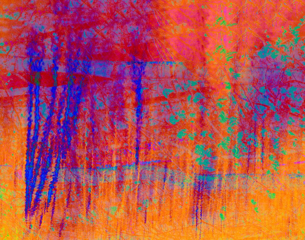 Tree Impressions Blue