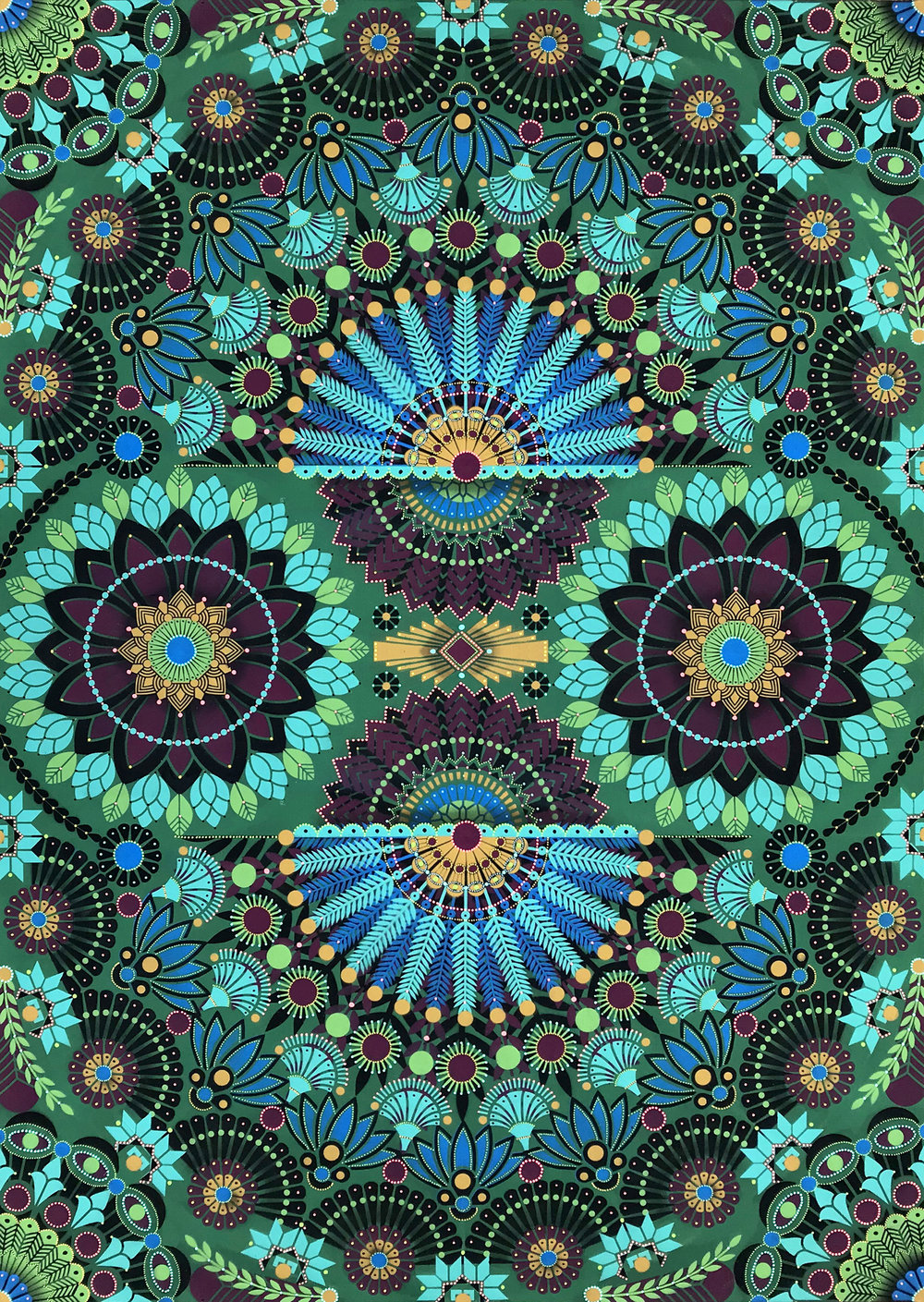 Kaleidoscopic Nature #6  - Acrylic on canvas, 162 x 114 cm   2018