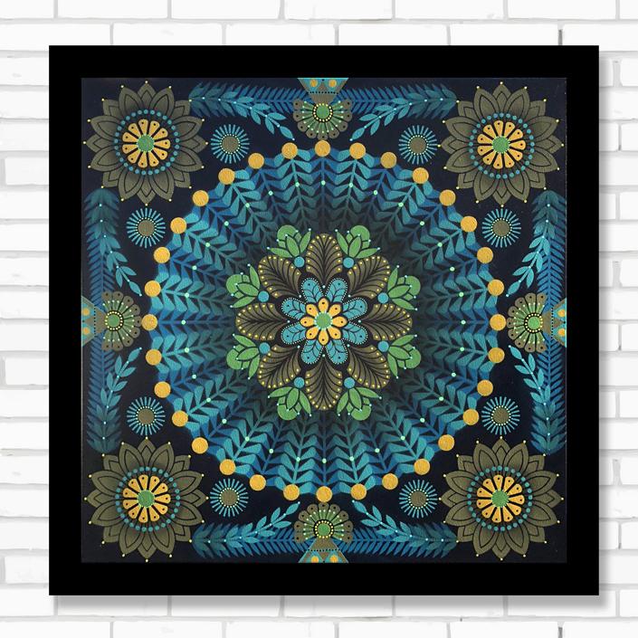 Kaleidoscopic Nature #12  - Acrylic on canvas, 60 x 60 cm   2018