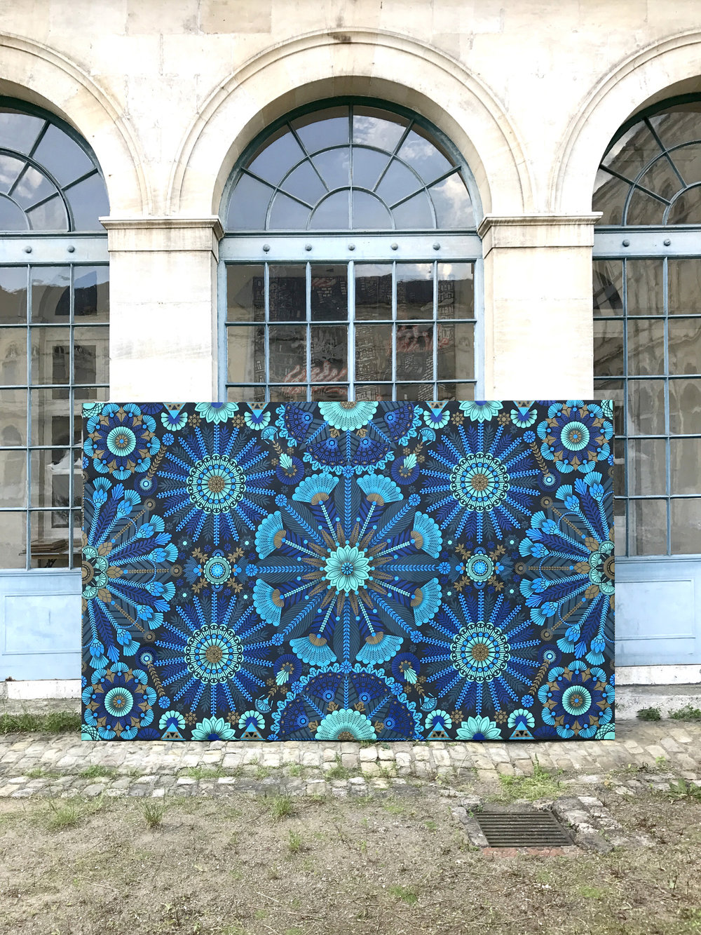 La Madeleine bleue  - Acrylic on canvas, 200 x 400 cm   2017