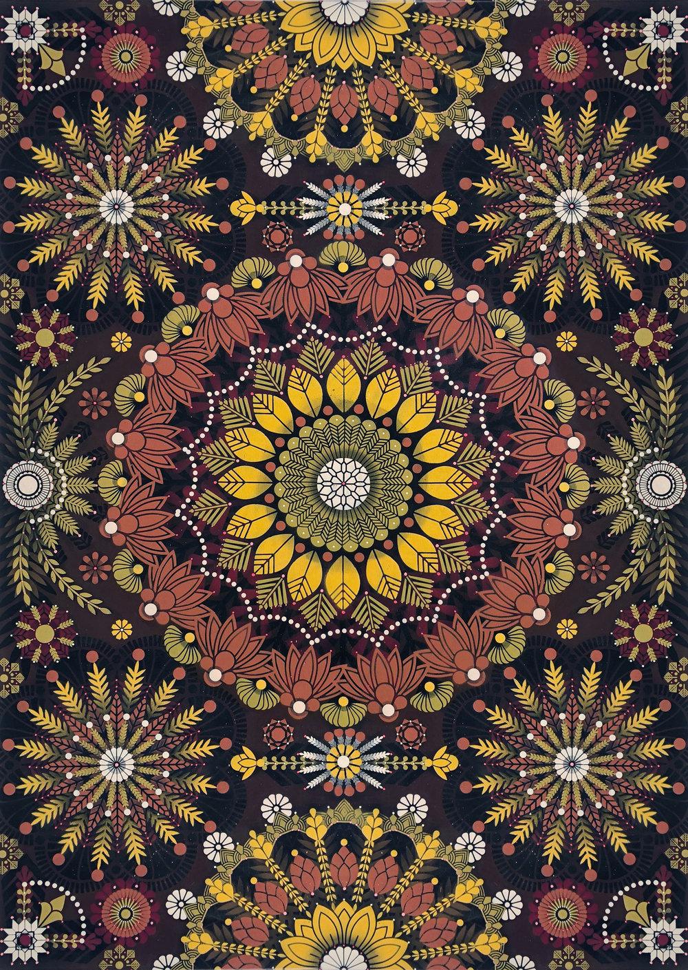 """ Kaleidoscopic Nature #1 "" Acrylic on canvas - 162 x 114 cm   2018"