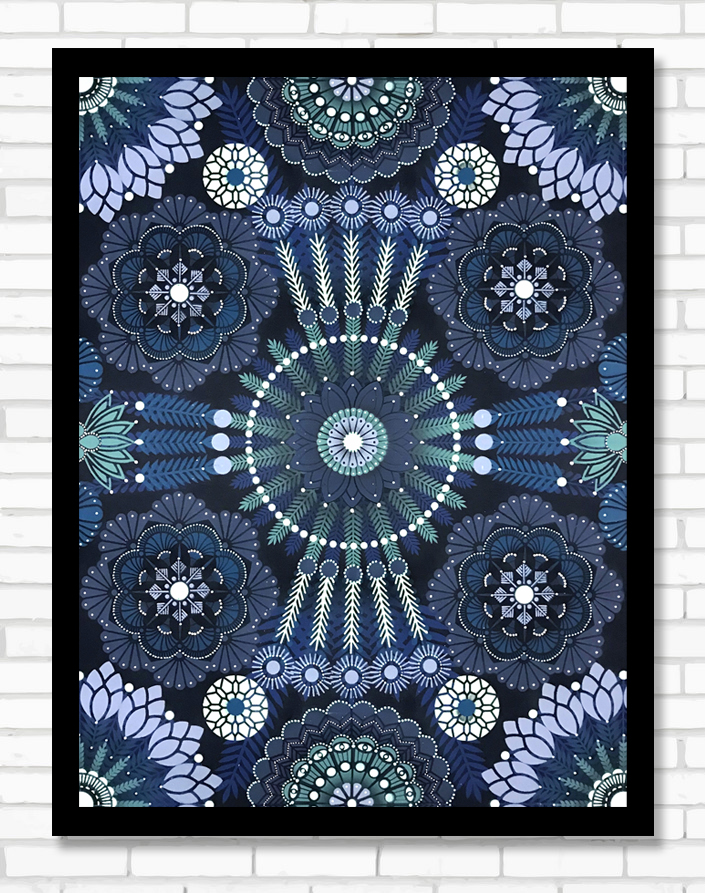 Kaleidoscopic Nature Saphphir  - Acrylic on canvas, 60 x 80 cm   2018