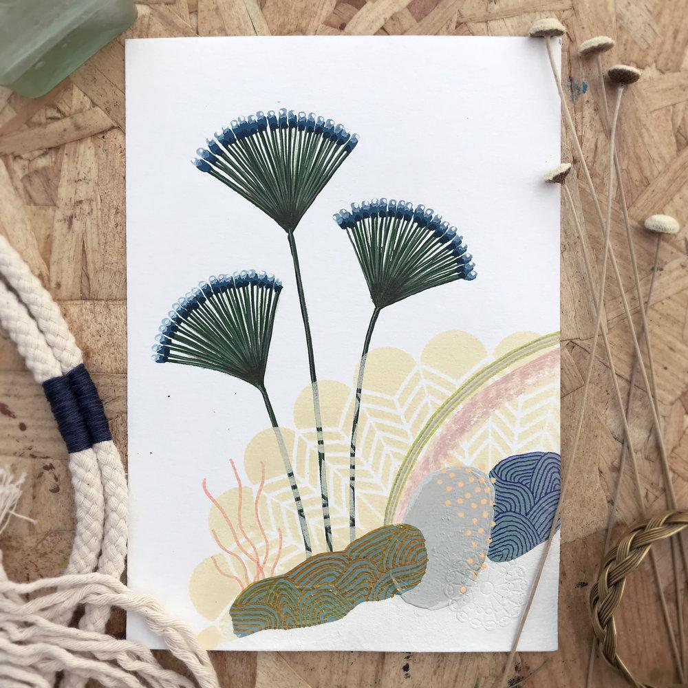 Karinatae Lalis  from Botanic garden, Herbarium - Mix media   2018