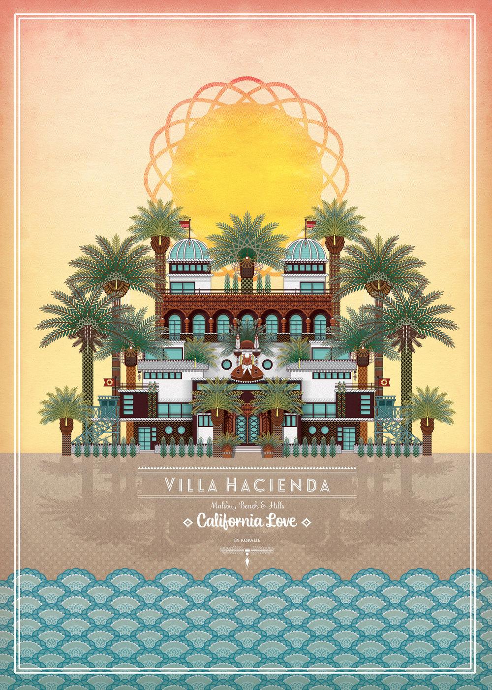 Villa Hacienda  - Digitale illustration   2014