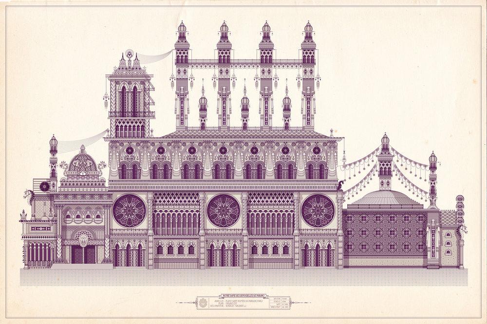 Notre Dame des demoiselles de Buranos / East  - Digitale illustration   2012