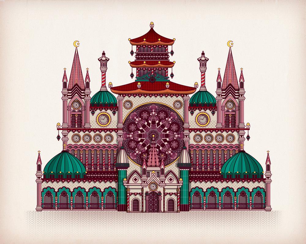From Hanoï to Sapa  - Digitale illustration   2014