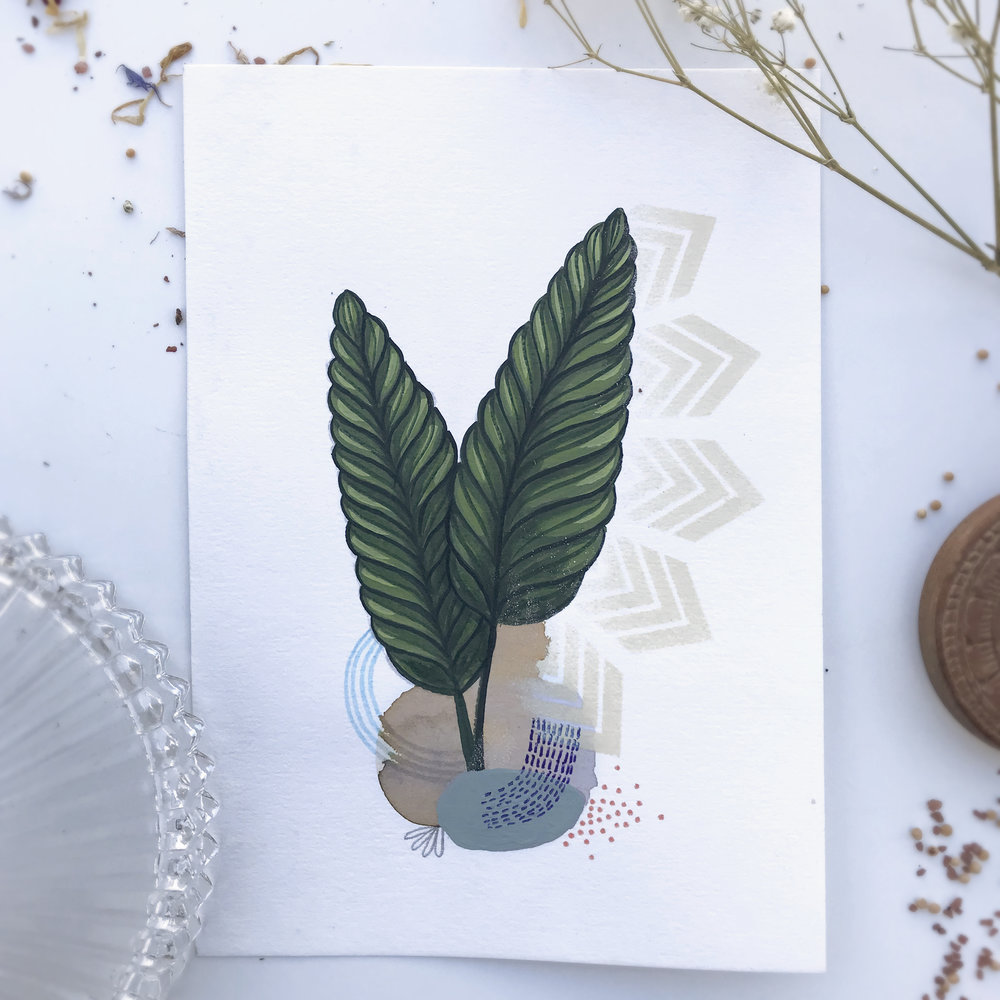 Yalenae Nitis  from Botanic garden, Herbarium - Mix media   2018