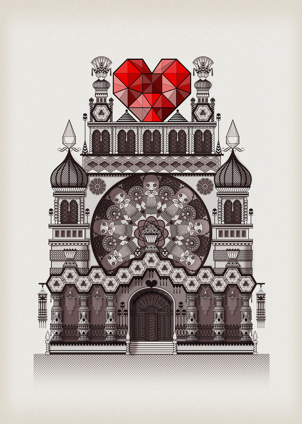 Empirical temple of love  - Digital illustration   2014
