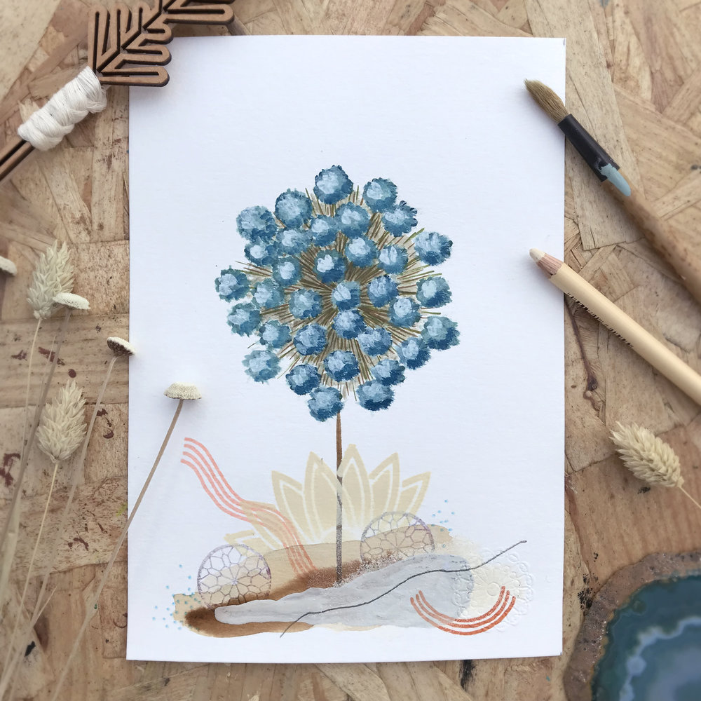 Gulipha Ipsum  from Botanic garden, Herbarium - Mix media   2018
