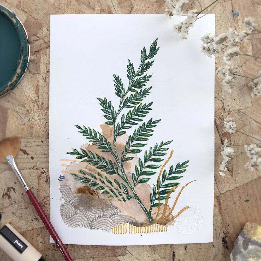 Manipae Phedres  from Botanic garden, Herbarium - Mix media   2018