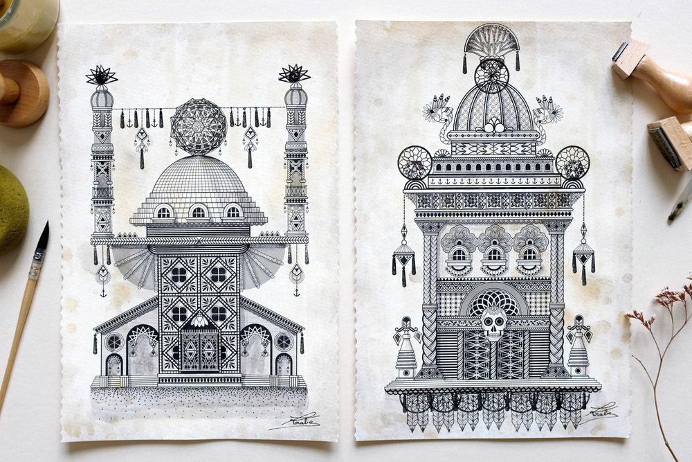 Arpége & Calavera  - Digital illustration   2015