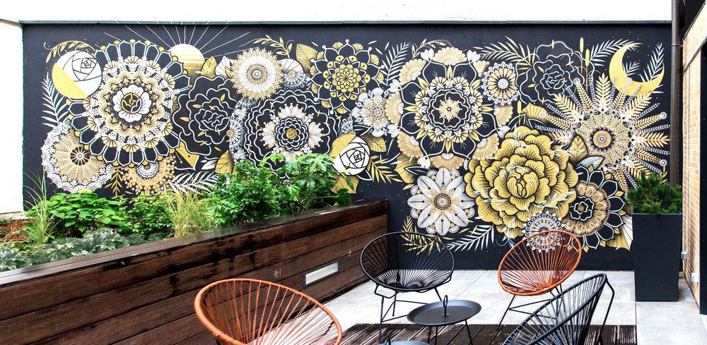 Mur Végétal #4  - L'Imprimerie Hôtel, Clichy - FR | 2017 w/ SupaKitch