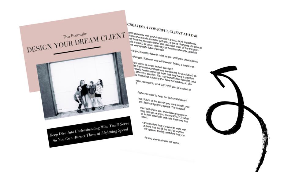 Bonus #2: Design Your Dream Client Workbook -