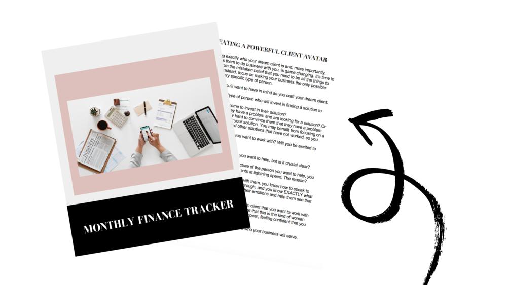 Bonus #3: Monthly Finance Tracker -
