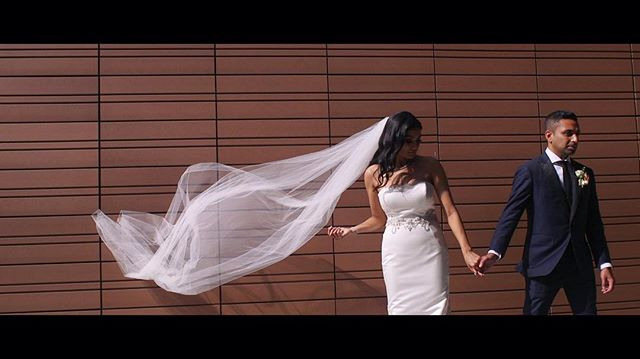 •• #ThadsLove •• @akhina & Shawn // . . . // #framegrab #pyourvision #pyourvisionfilms #comingsoon #bride #groom #bridalgown #gown #suit #wedding #cinematographers #notphotographers #toronto #vaughncityhall #trailercomingsoon