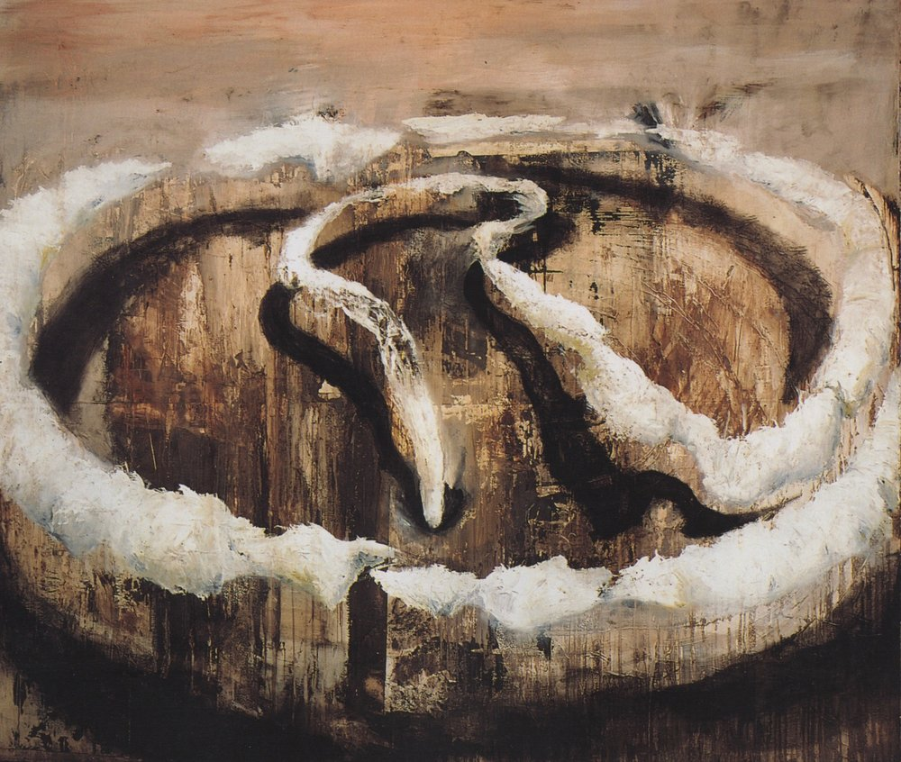 """Cord"" 1995 oil on canvas, 72"" x 85"" Private Collection."""