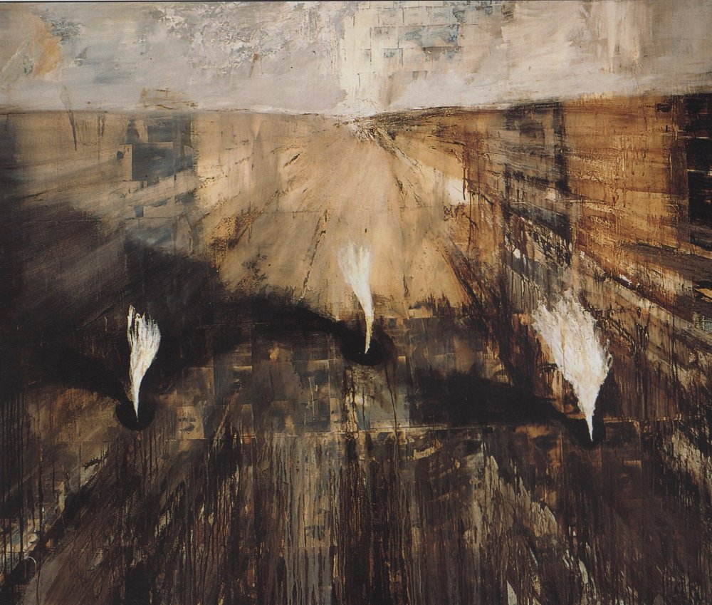 """Tribe"" 1995 oil on canvas, 72"" x 85"""