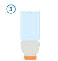 Step 3   Invert the bottle, ensuring all material has settled at the mouth. Leave the bottle inverted for approximately 24 hours to allow AquaBlok ample time to hydrate.