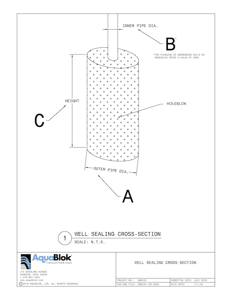 How To Use Well Sealing Calculator: Find Outer Pipe Diameter, Inner Pipe Diameter, and Height