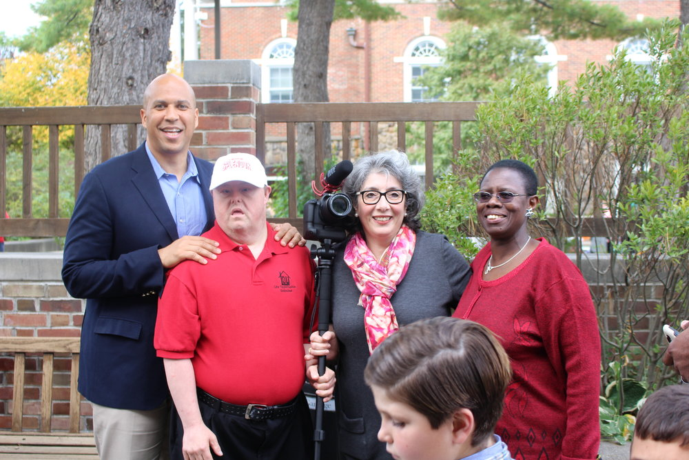 U.S. Senator Corey Booker with L.O.U. Representatives