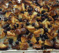 WHITE CHOC. BLUEBERRY BREAD PUDDING