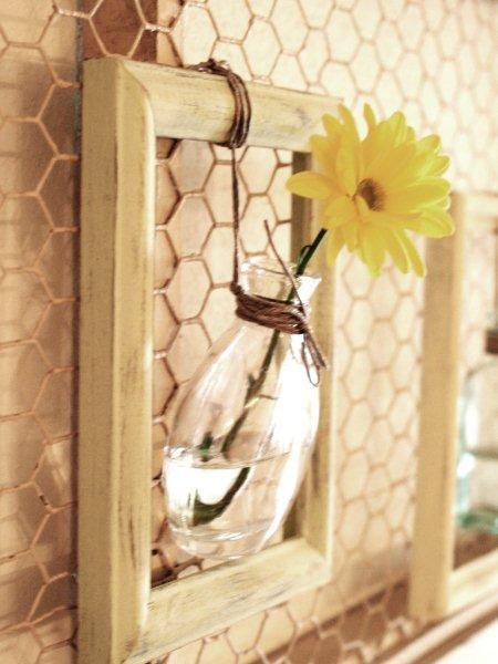 Simple Spring Framed Vases