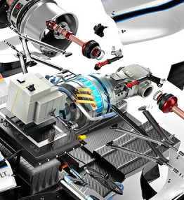 Engineered racing electric motor design.