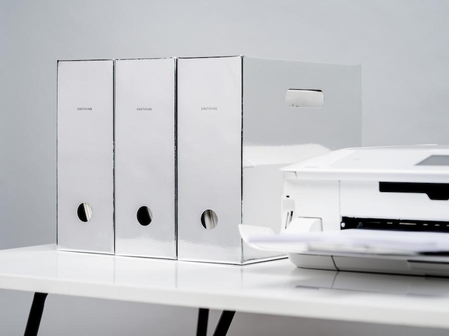 MIRRORED File Box - SKU# 45-1101-90Material: PaperProduct Dimensions: 12.6