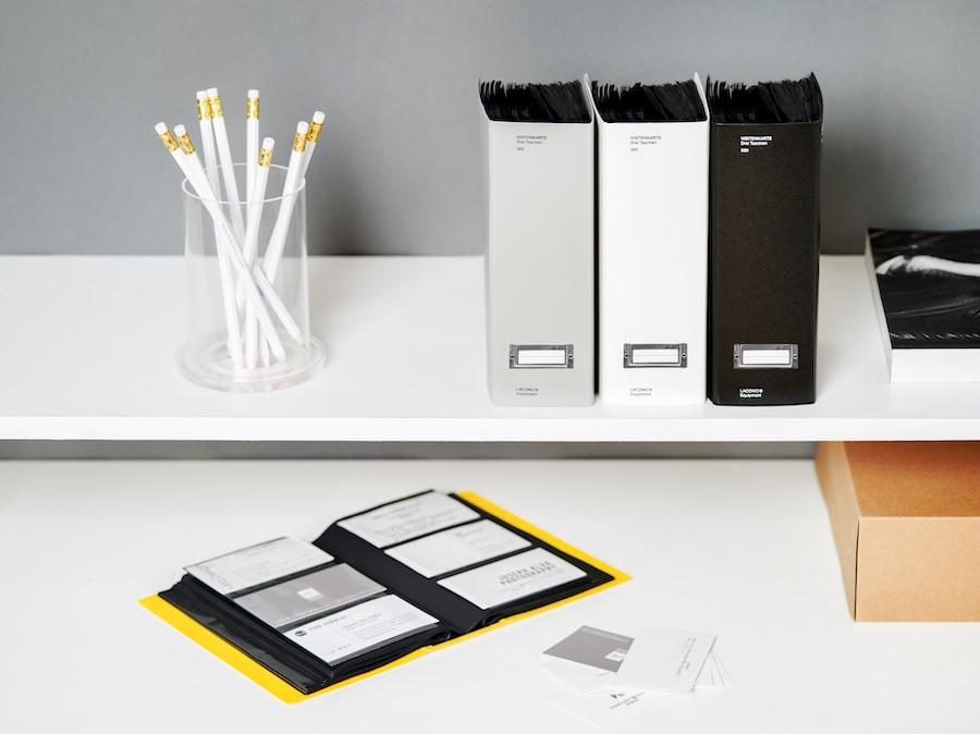 Business Card Folder - SKU# Black (45-1102-99)White (45-1102-01)Gray (45-1102-80)Yellow (45-1102-50)Material: Paper, Plastic, MetalProduct Dimensions: 4.3