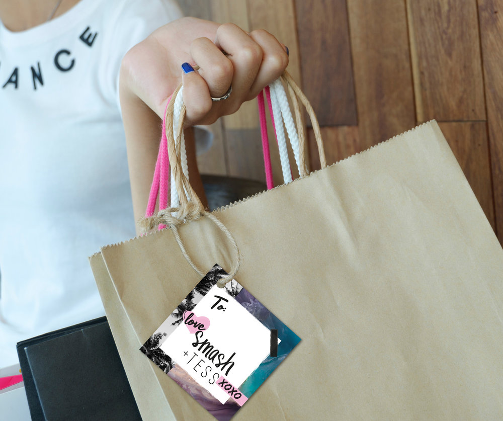 Smash + Tess - Coachella 2018 Shopping Bag Tag